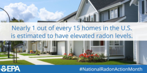 Cover photo for January Is National Radon Action Month.