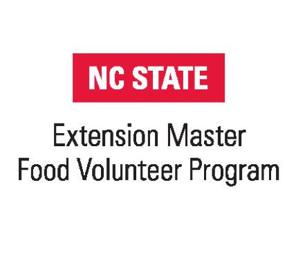 NC State Extension Master Food Volunteer Program logo