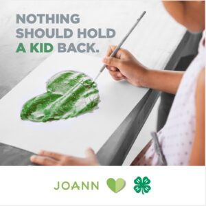 Cover photo for 4-H and JOANN Partnership