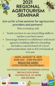 Cover photo for 2021 Regional Agritourism Seminar
