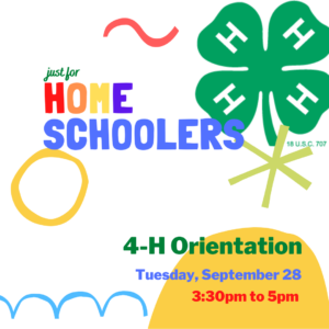 Cover photo for 4-H Orientation for Home School Families and Groups